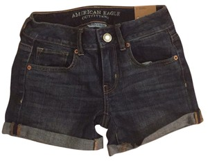 American Eagle Outfitters Dark Wash Midi Blue Tags Mini/Short Shorts