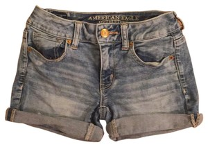 American Eagle Outfitters Light Wash Jeans Midi Mini/Short Shorts