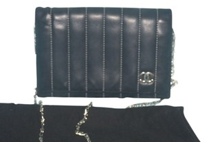 Chanel Wallet Lambskin Quilted Black Clutch