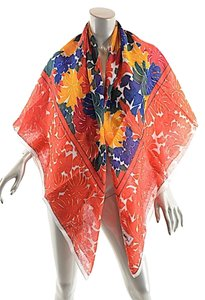 Saint Laurent YVES SAINT LAURENT Foulards Multi Linen Fauna Print Square Scarf/Shawl - 54