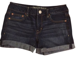 American Eagle Outfitters Blue Dark Dark Wash Midi Mini/Short Shorts
