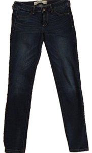 Abercrombie & Fitch Blue Dark Wash Dark Jeggings-Dark Rinse