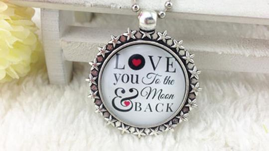 Love You To The Moon And Back Wedding Necklace Free Shipping