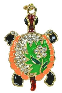 Rhinestone Enamel Turtle Key Chain Key Ring Free Shipping