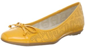 Etienne Aigner Patent Leather Yellow Flats
