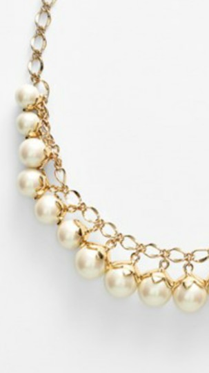 Kate Spade Kate Spade New York Petaled Faux Pearls Collar Necklace