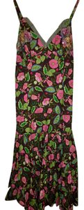 short dress Pink, Green, Brown Floral Embellished on Tradesy