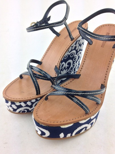 Miu Miu Navy Wedges