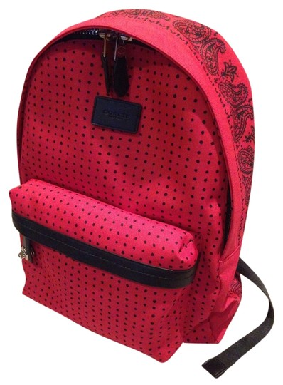 Preload https://item5.tradesy.com/images/coach-printed-small-redblack-canvasleather-trim-backpack-6070639-0-0.jpg?width=440&height=440