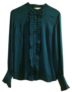 Chaiken Button Down Shirt Turquoise