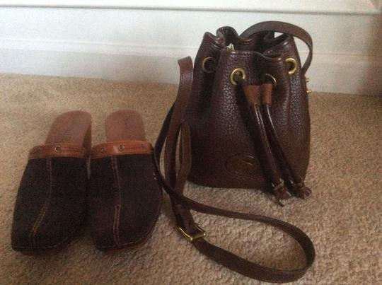 Timberland Monogram Chocolate suede / leather Mules