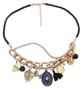 Other New Horse Leaf Tassel Charm Necklace Rope Gold Chain J1276