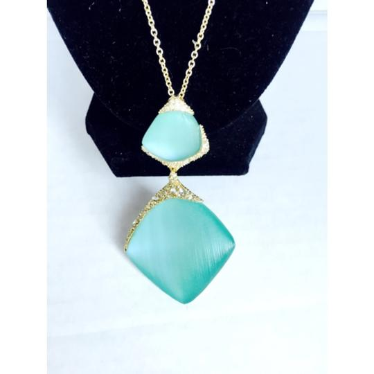 """Alexis Bittar Alexis Bittar Lucite Crystal Encrusted Drop Pendant Necklace, 32"""" New With Tags"""
