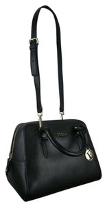 Furla Elena Leather Satchel in Black