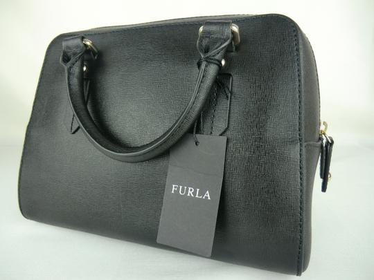 Furla Elena Leather Onyx Satchel in Black