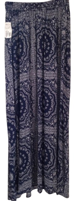 Forever 21 Relaxed Pants Blue/white