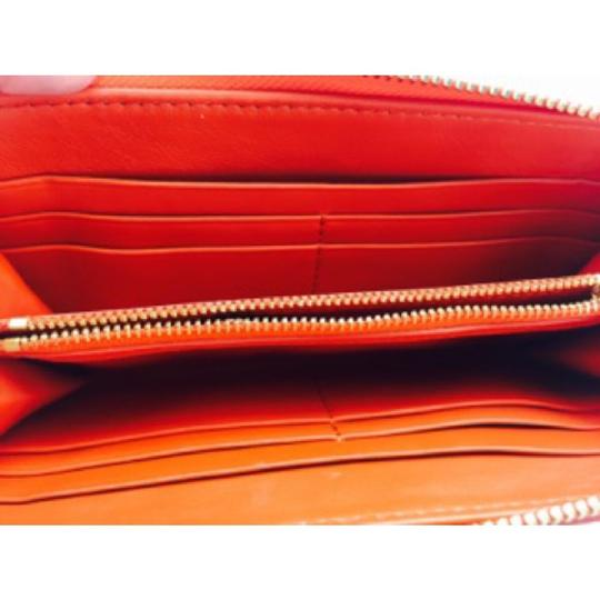 Tory Burch Tory Burch Orange Leather Continental Wallet New With Tags