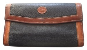 Dooney & Bourke Dooney&Bourke Wallet Black/Tan Leather Bifold Checkbook Coin Purse