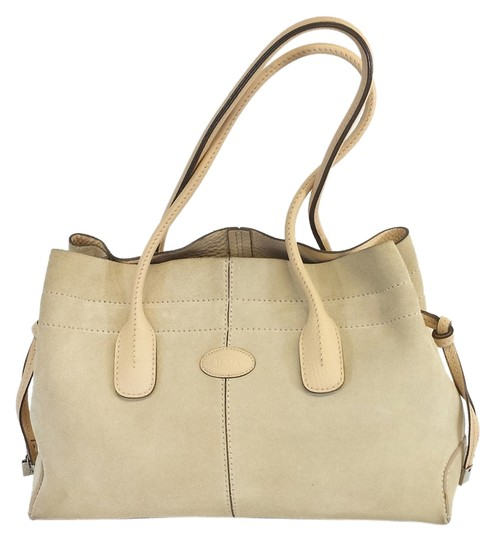 Tod's Light Tan Suede Shoulder Bag
