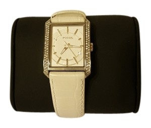 Fossil Fossil White Diamond Leather Watch
