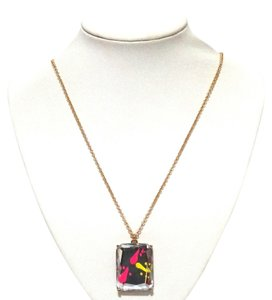 Kate Spade Kate Spade New York Black Multi Color Splatter Jewels Long Necklace