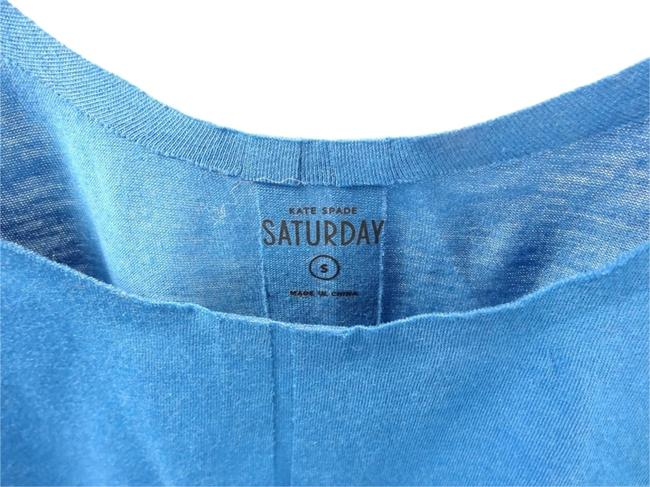 Kate Spade Saturday Seamless Sapphire Knit Small Top blue