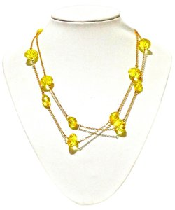 Kate Spade Kate Spade New York Bright Yellow Crystal Beaded Extra Long Necklace