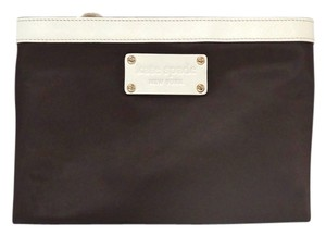 Kate Spade Kate Spade New York Beachcomber Chocolate Nylon Patent Leather Small Pouch Purse