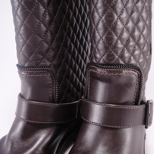 Chanel Quilted Winter Brown Boots