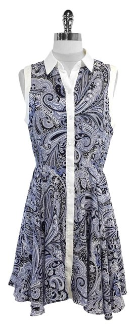 Trina Turk short dress White Navy Paisley on Tradesy