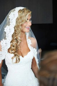 Lace Trimmed Bridal Veil (brand New Never Worn)
