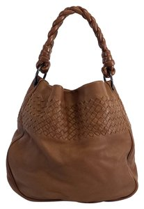 Bottega Veneta Brown Leather Intrecciato Shoulder Bag