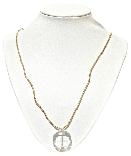 Kate Spade Kate Spade New York Clear Crystal Round Pendant Long Necklace