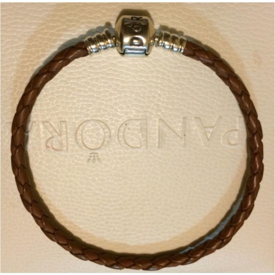Pandora Brown Single Leather Bracelet