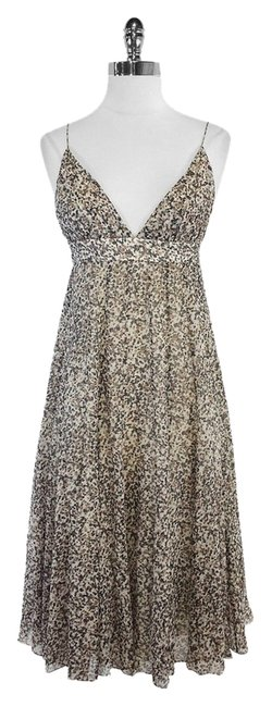 Samantha Treacy short dress Grey Taupe Spotted Silk on Tradesy