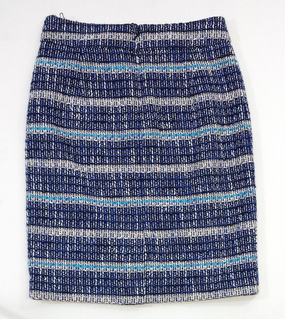 Tory Burch Blue White Tweed Pencil Skirt