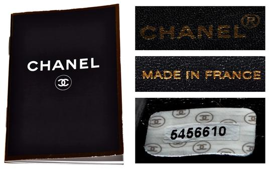 Chanel Guaranteed Pre Owned Made In France Lambskin Dust Satchel in Black