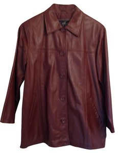 Atelier by B. Thomas Soft Leather Great Year-round warm medium brown Leather Jacket