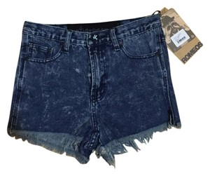 One Teaspoon High Rise Cut Off Shorts acid wash