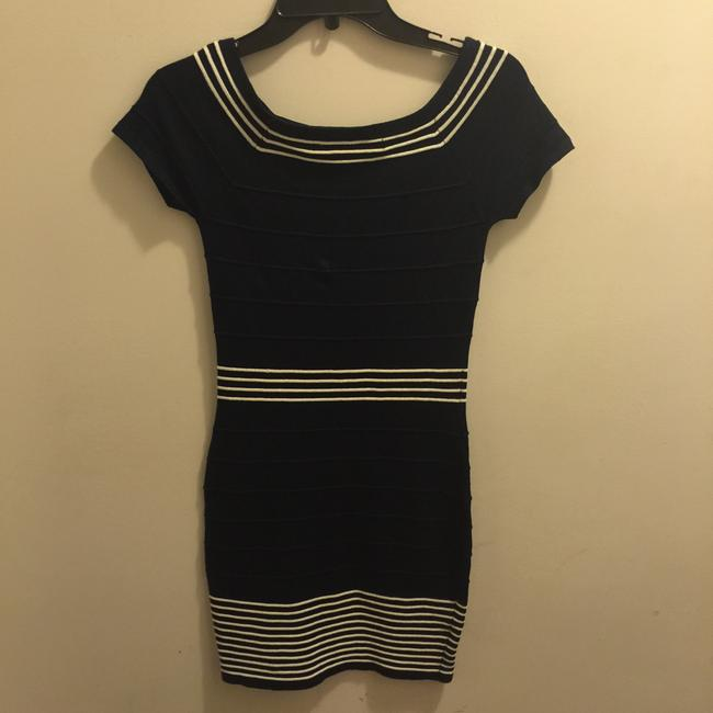 Max Studio short dress Navy on Tradesy