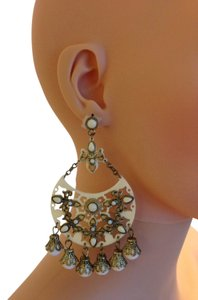 Large Off White Statement Earrings