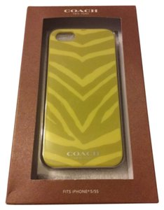 Coach Coach 67753 iPhone 5/5S Hard Cover Case Zebra Print Pattern