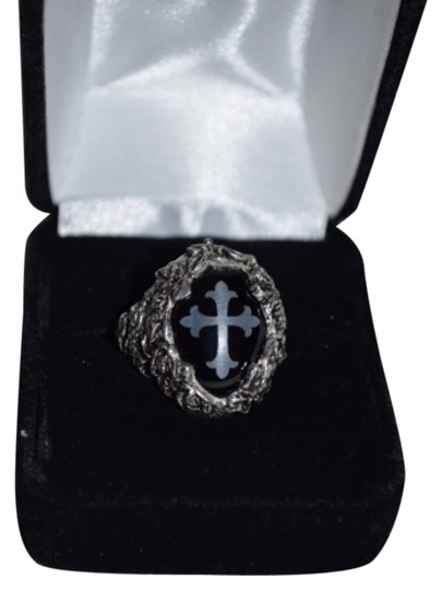 Alchemy Cross Ring Pewter