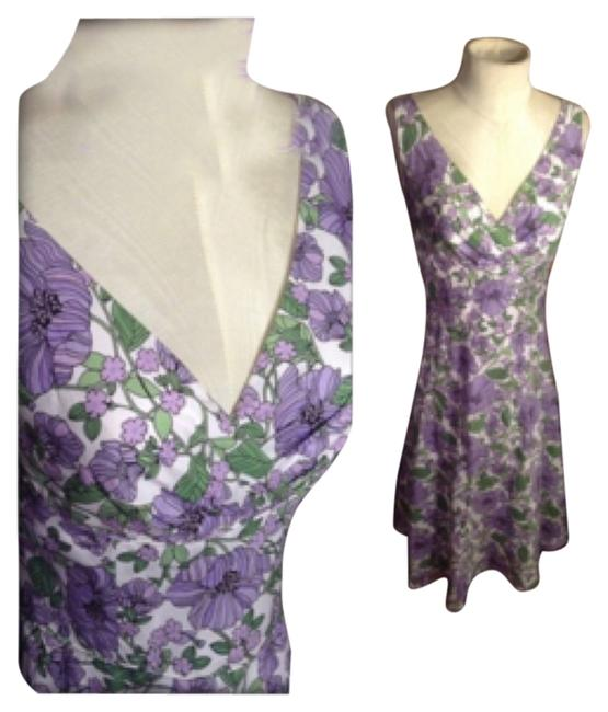 Purple/White/Green Maxi Dress by Ann Taylor LOFT