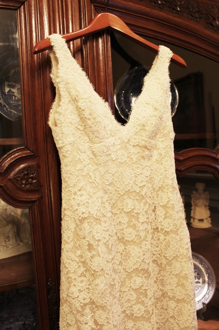 Item - Ivory Silk Danielle Vintage Wedding Dress Size 6 (S)