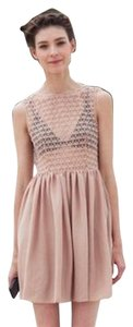 American Apparel short dress Nude Lace Chiffon Beige on Tradesy