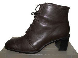 Rockport Leather Waterproof Granny dark brown Boots