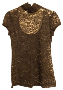 Express Lace Scoop Party Top Black