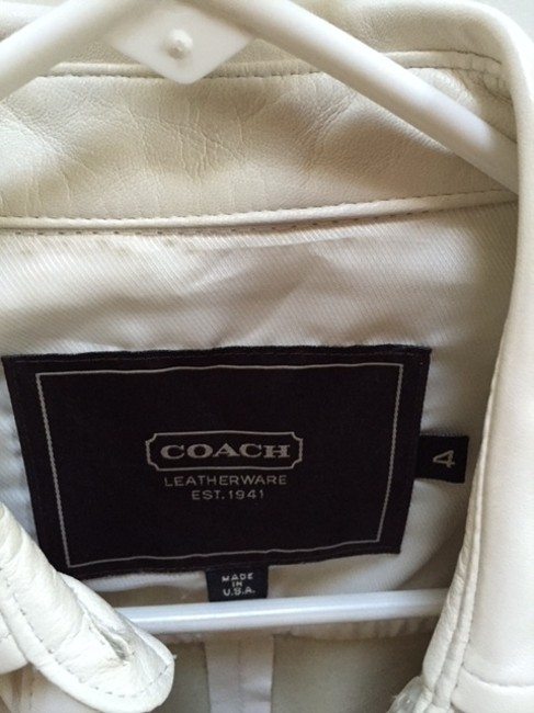 Coach Off Off Leather Top white