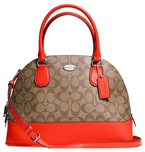 Coach Satchel in Saddle and Tangerine